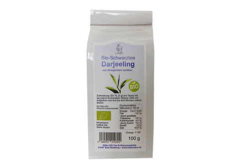 Schwarztee Bio Darjeeling Second Flush 100 g
